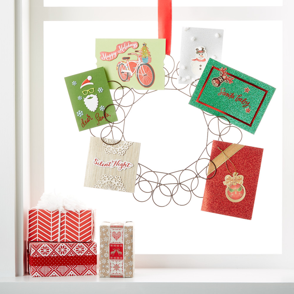 Magnificent Fresh Ideas Your Home Holiday Card Displays Container Stories Itwill Ly Display Your Holiday Greeting Cards Hang Our Spiral Wreath Card Her On A Hook Anywhere cards Christmas Card Holder