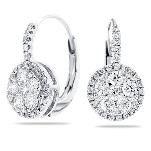 Medium Of White Gold Earrings