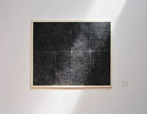 "Adrian Kolerski, Untitled, 2013, oil on canvas, 150 x 180 cm, exhibition view: ""Box: Krakow"", Industra gallery in Brno 2014, photo Anna Pichura"