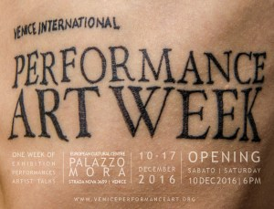 VENICE INTERNATIONAL PERFORMANCE ART WEEK_opening2016