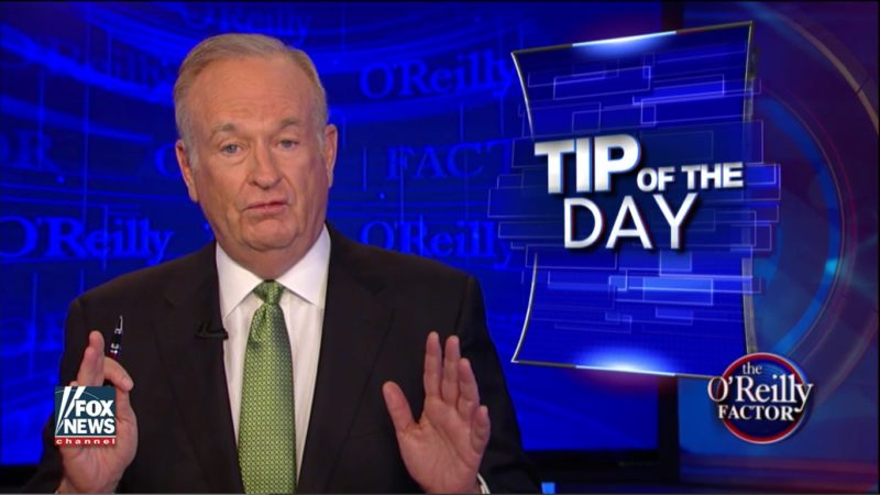 bill o'reilly tip