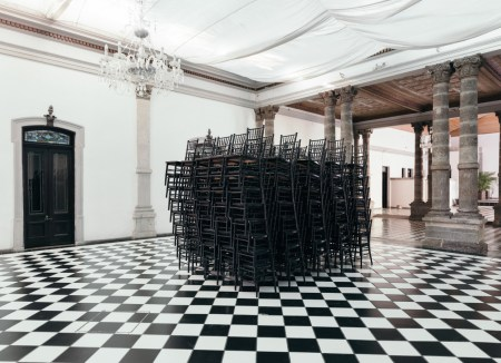 """Black Chairs"",  2016, from Mansión Magnolia series. Photo courtesy of Carmen Argote"
