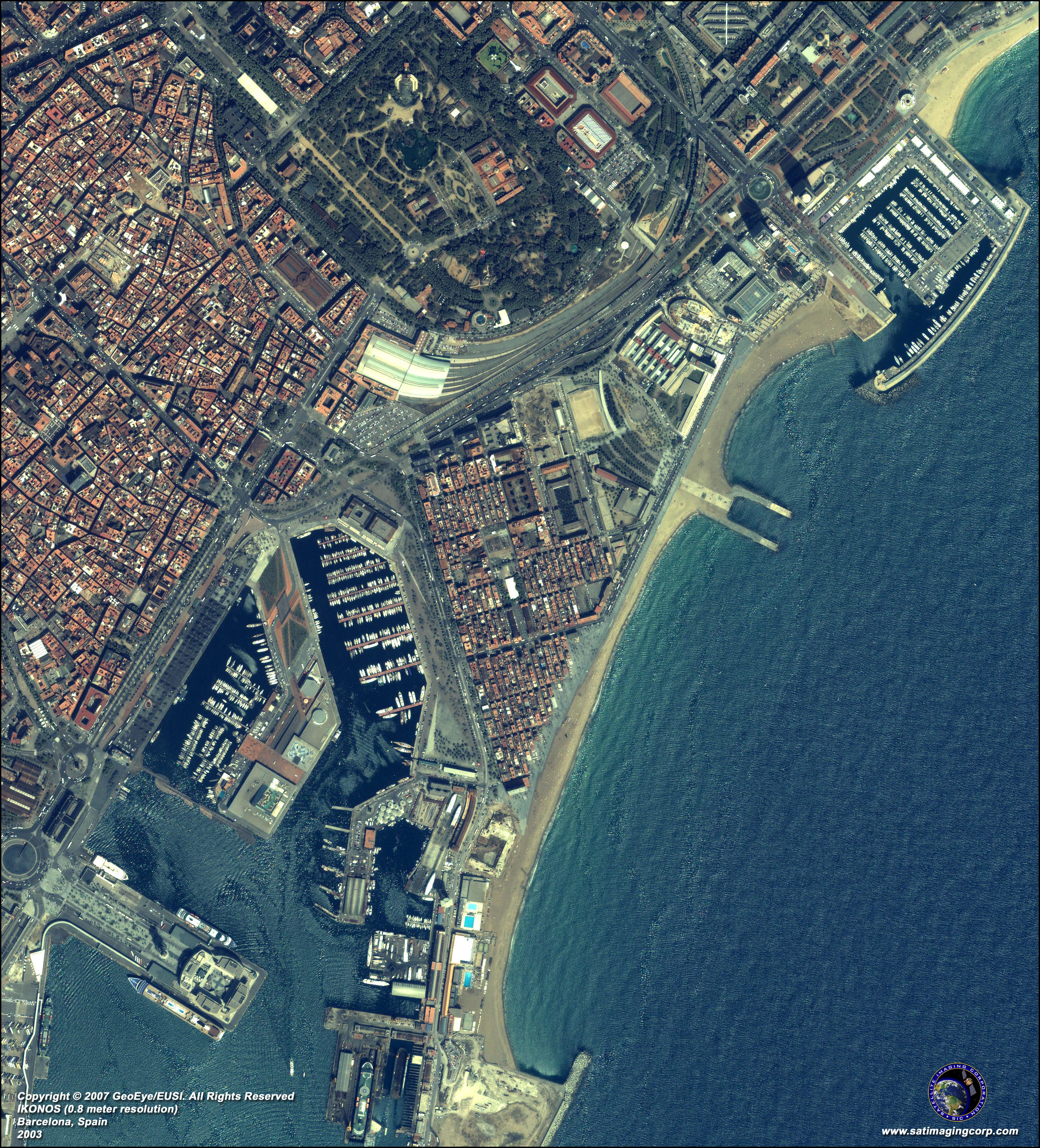 IKONOS Satellite Image of Barcelona  Spain   Satellite Imaging Corp View full resolution image