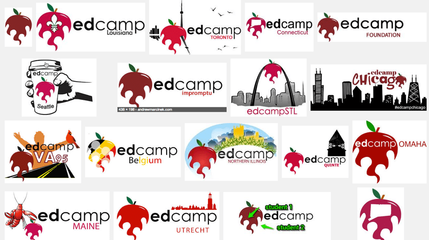 EdCamp Logo Collage