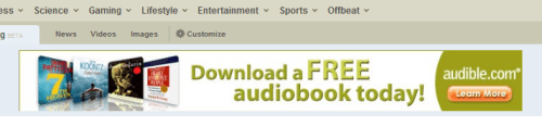 Audible Ad on Digg