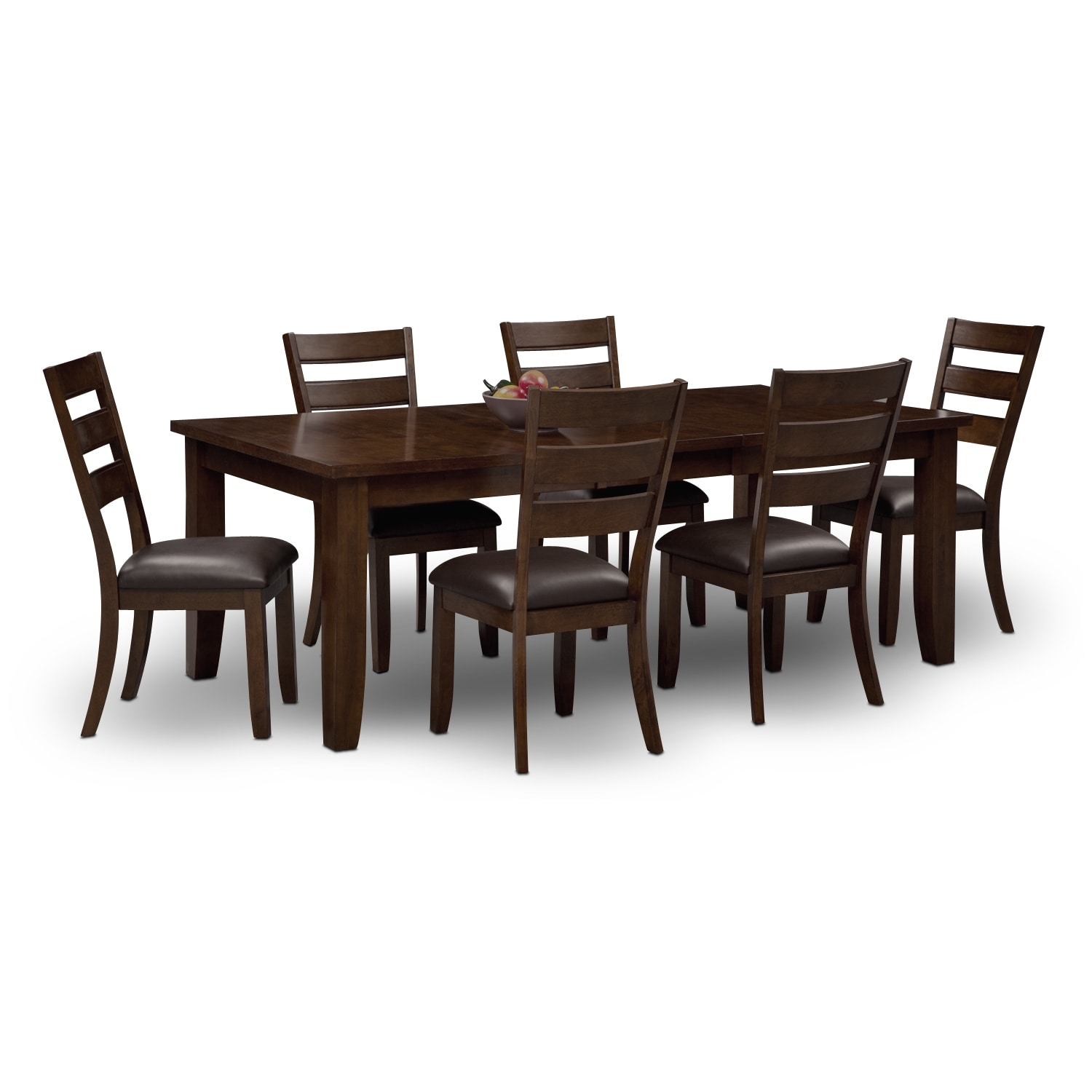 shop for 7 piece dining rooms 4 person kitchen table Abaco Table and 6 Chairs Brown