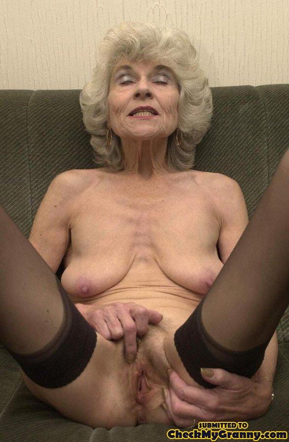 grey silver black old granny nude