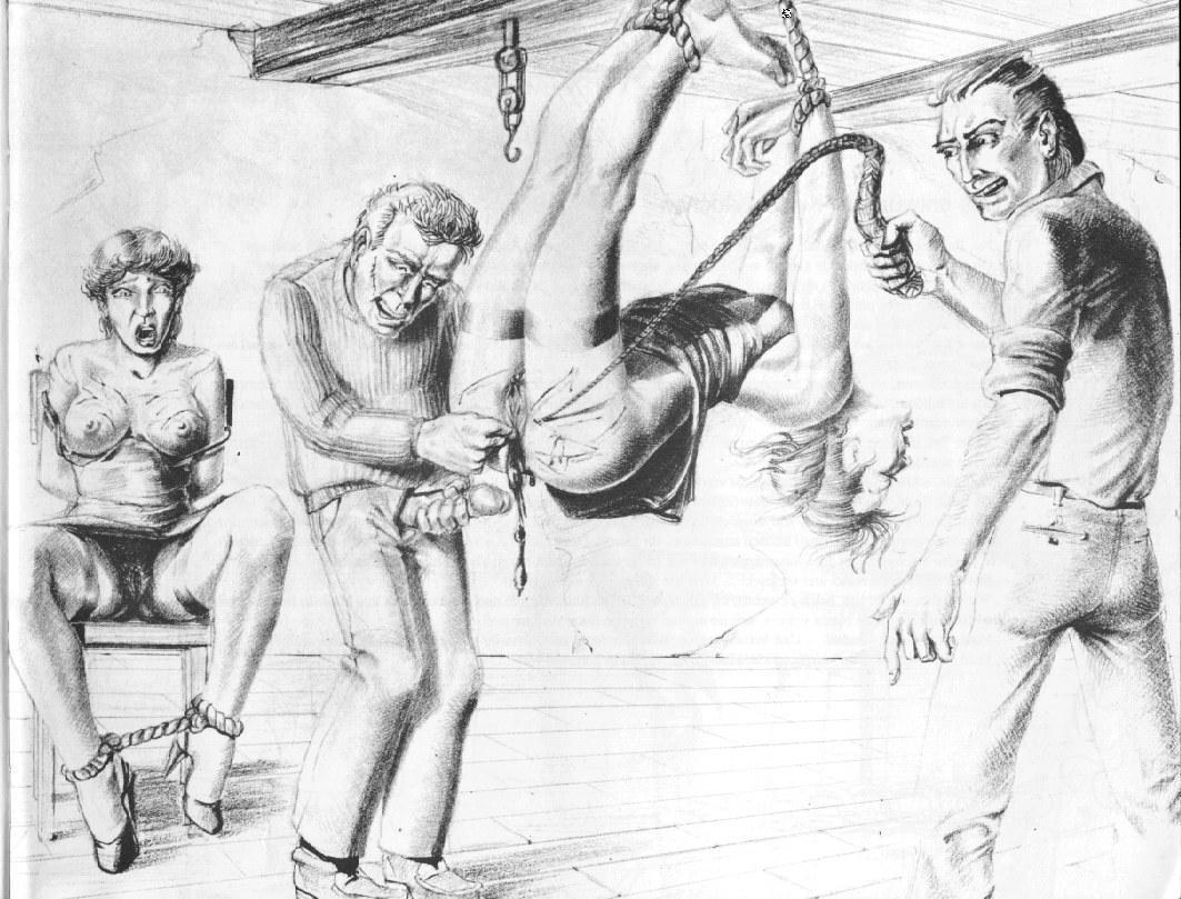 male bondage art drawing