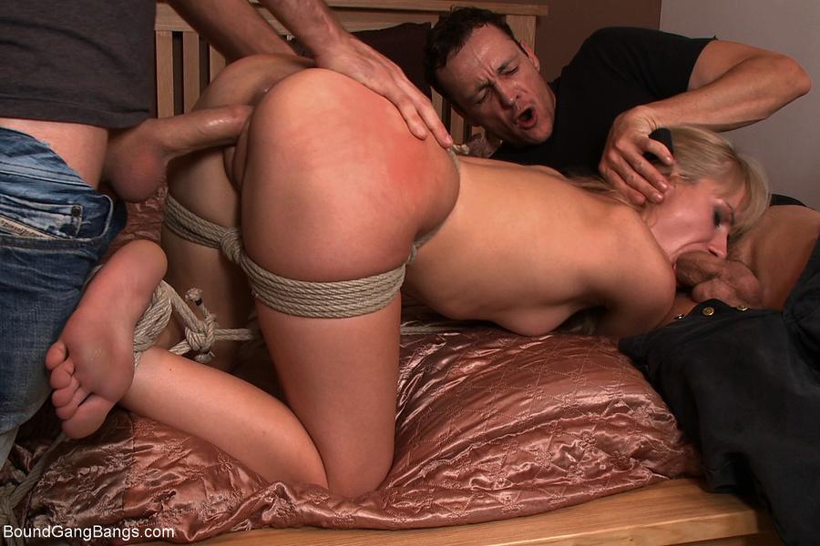 tied blindfolded wife gangbanged