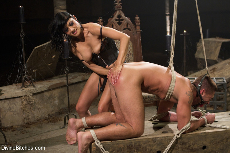 tied up dominant wife husband