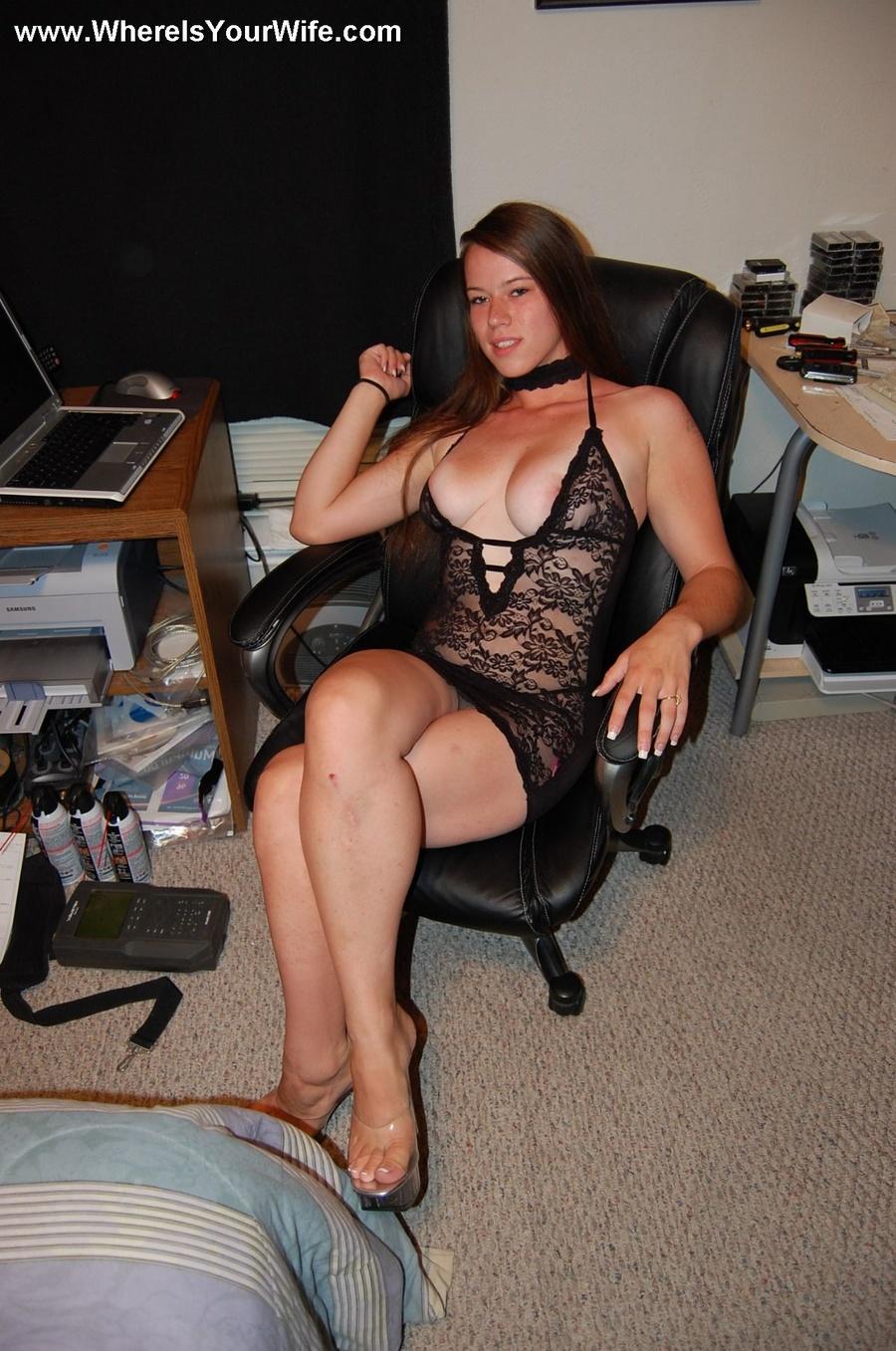 wife in lingerie