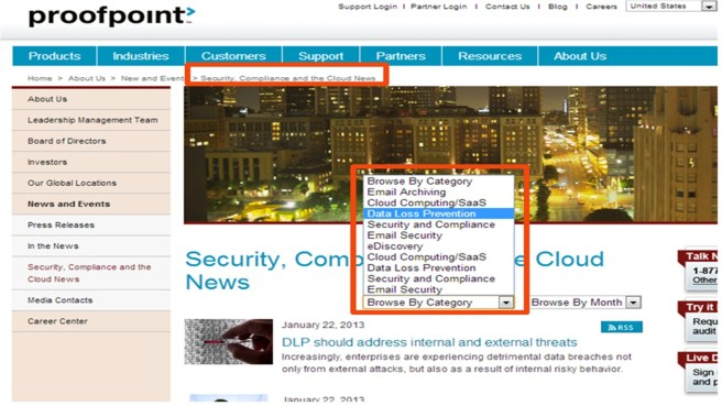 proofpoint's news strategy