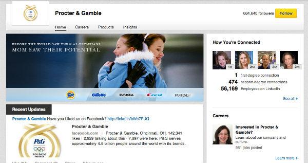 procter-gamble linkedin page