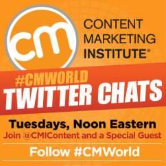 #cmworld twitter chats