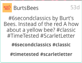 burts bees hashtags