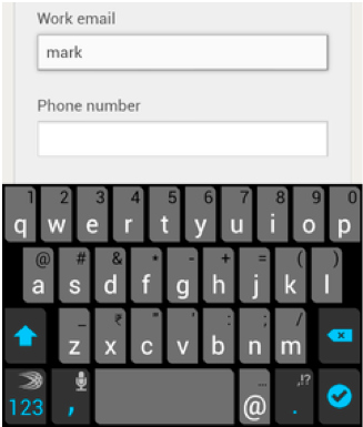 forms on mobile