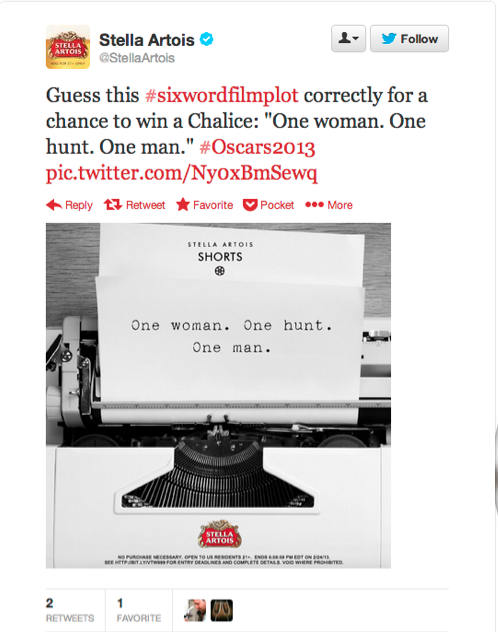 typewriter-stella artois shorts tweet
