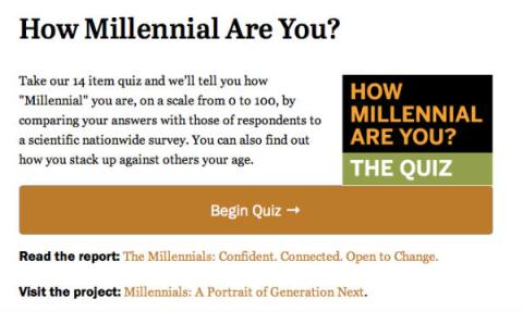 how millennial are you-the quiz