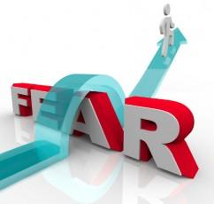 arrow crossing over fear