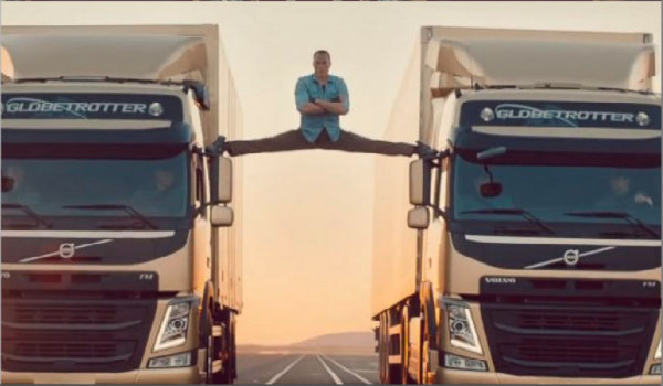volvo trucks-split stunt