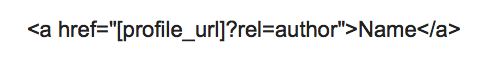 authorship markup tag