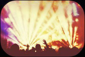 bright stage lights-rock concert