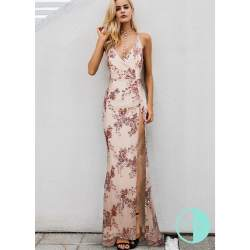 Small Crop Of Rose Gold Sequin Dress