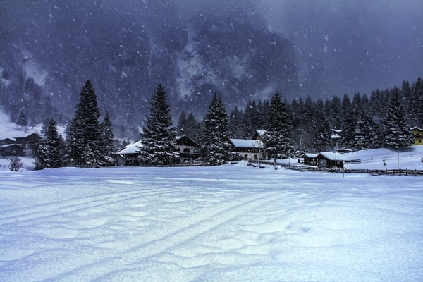 Winter wonderland Austria mountain landscape