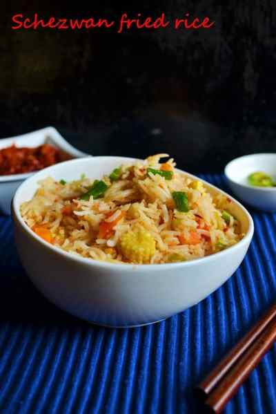 Schezwan fried rice recipe,how to make schezwan fried rice | Indo chinese recipes