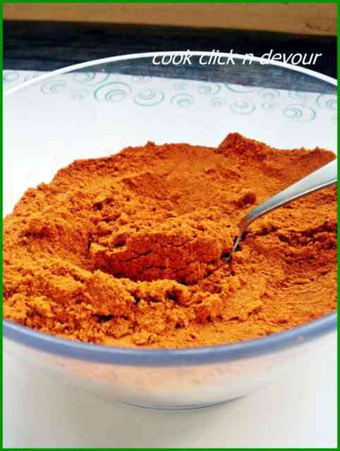 sambar powder recipe