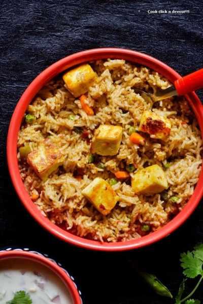 Paneer butter masala pulao recipe | How to make paneer butter masala pulao