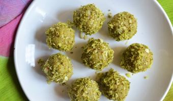 coconut pista ladoo recipe 2