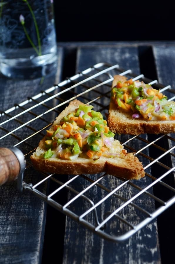vegetable cheese toast recipe1