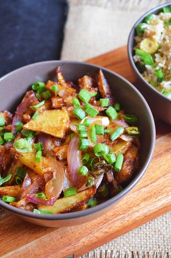 Chilli potato dry recipe