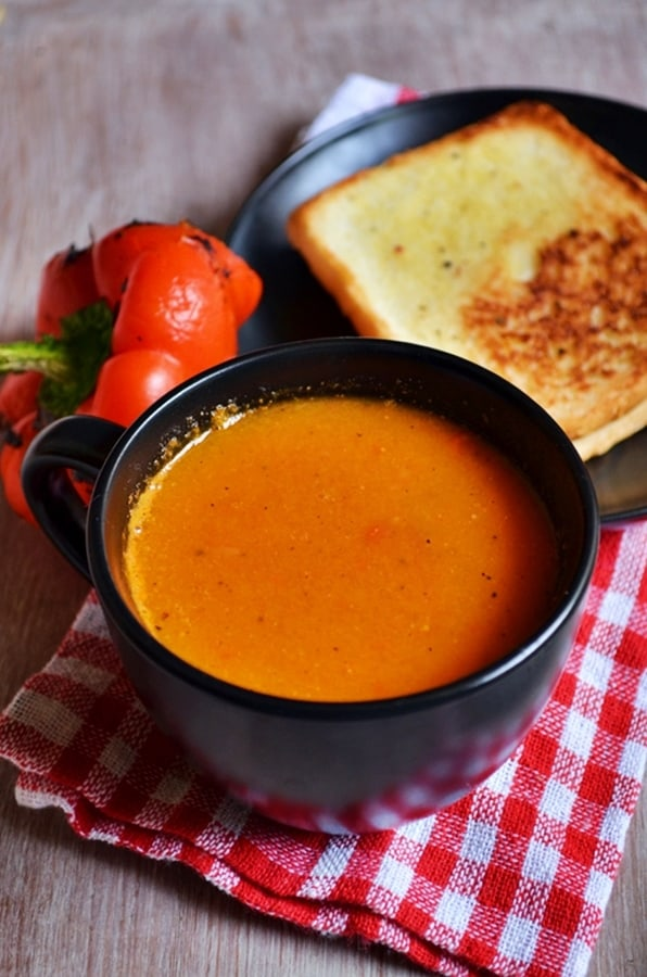 Roasted bell pepper soup recipe3