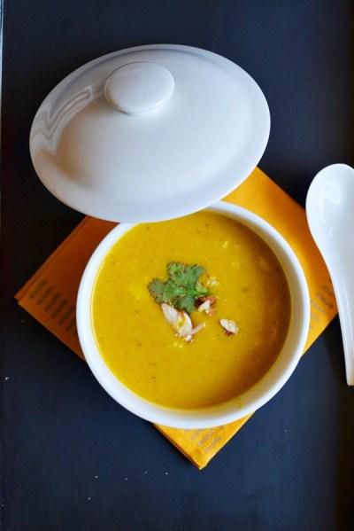 Carrot almond oats soup recipe | Easy soup recipes