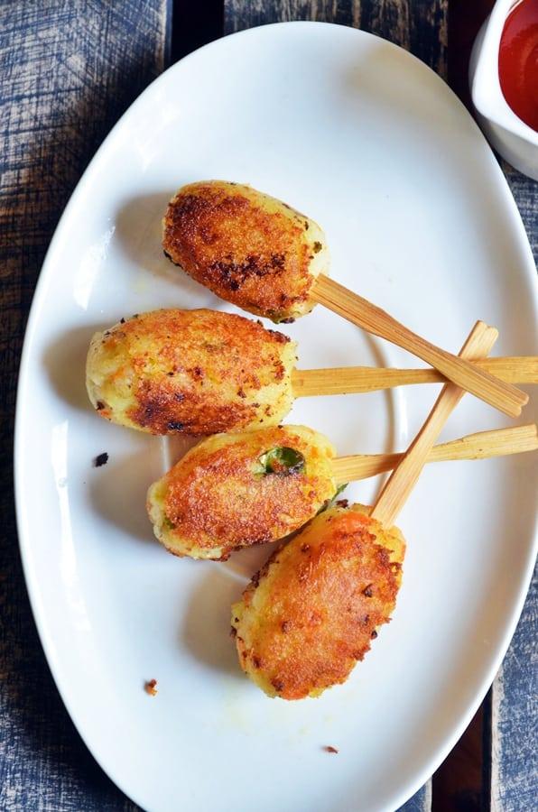 Potato lollipop recipe for Quick snacks to make with potatoes