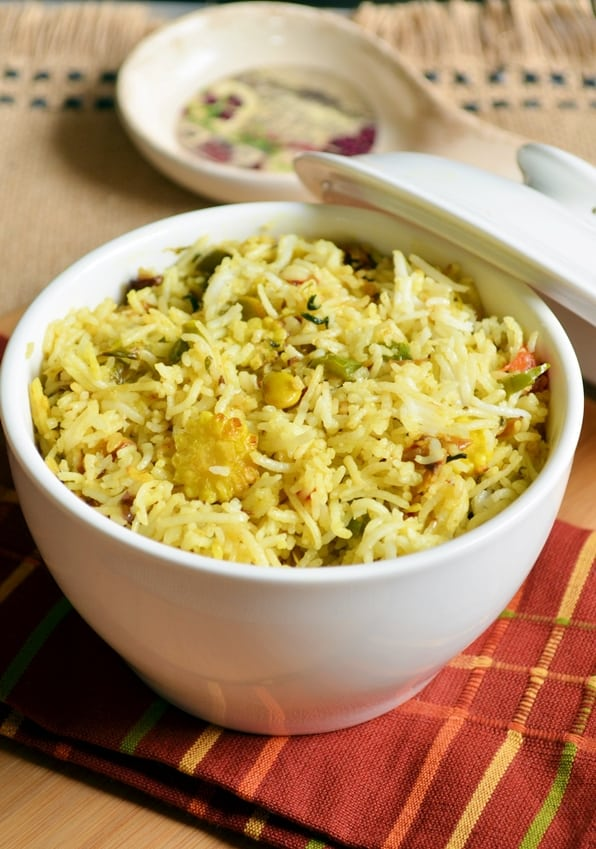 double beans methi pulao recipe 1