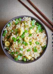 Baby corn fried rice recipe   Easy lunch box recipes