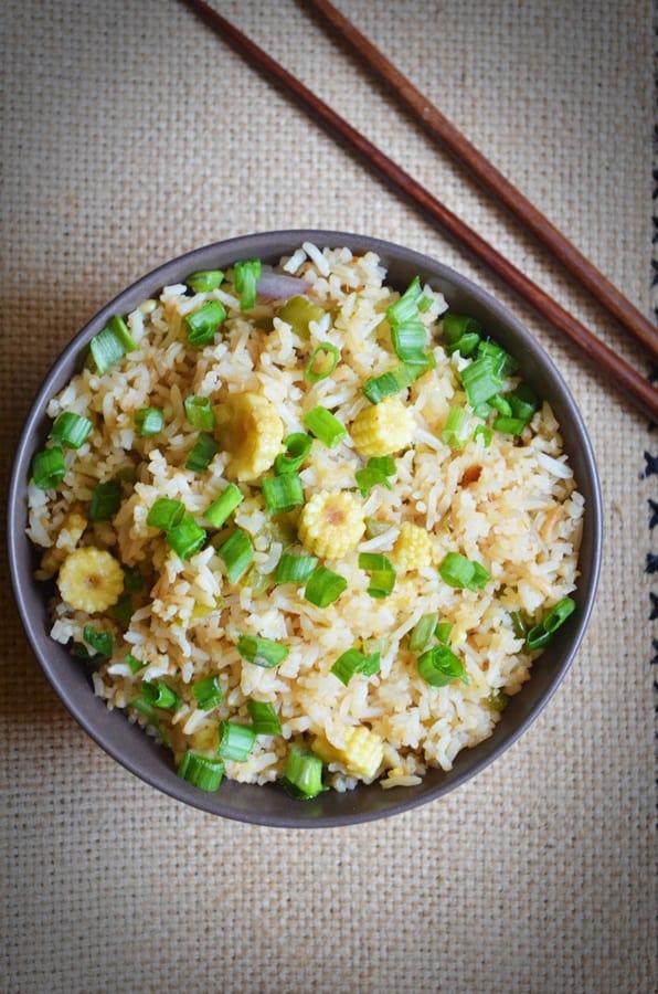 baby corn fried rice recipe1