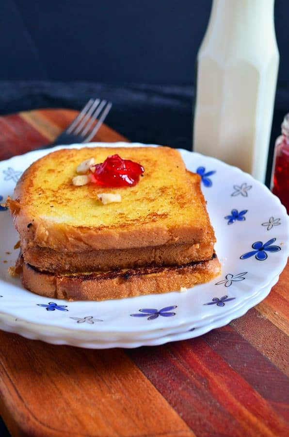 egg less french toast recipe with milk