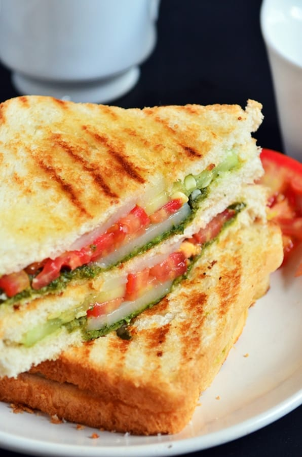 Bombay grilled sandwich recipe | Bombay sandwich recipe | Indian ...