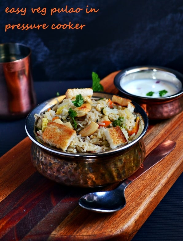easy vegetable pulao recipe in pressure cooker recipe-a