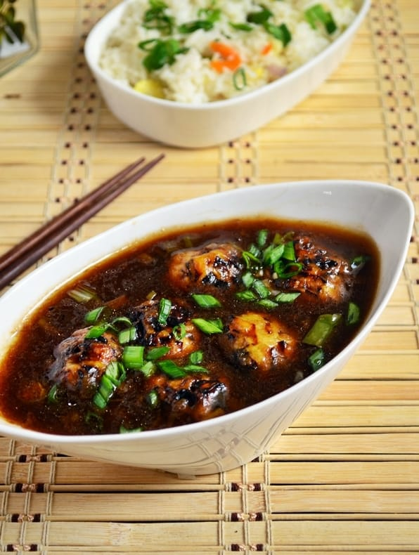 veg manchurian gravy recipe1