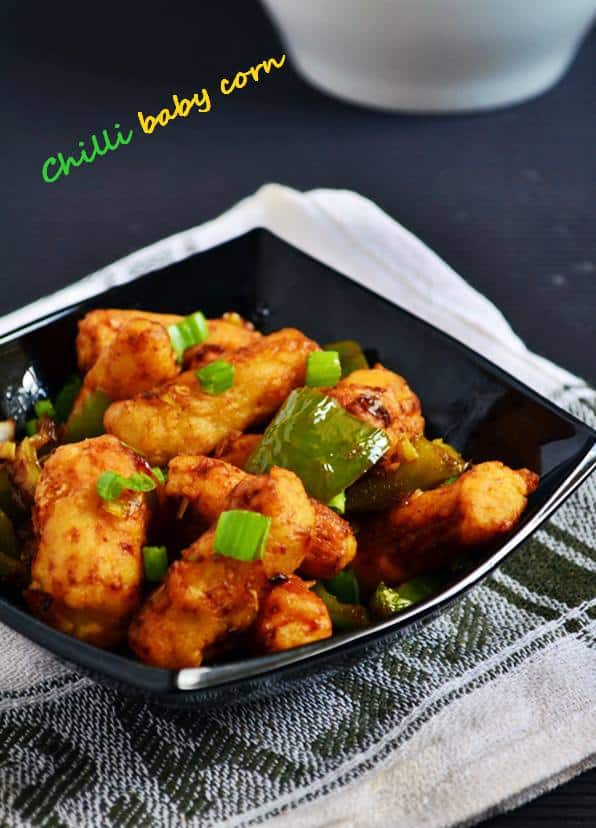 crispy chilli baby corn recipe
