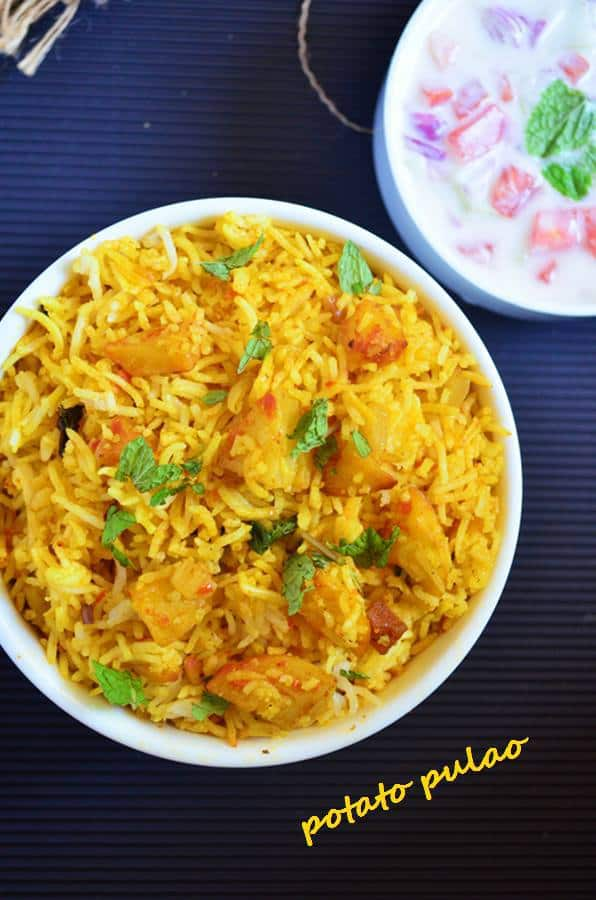 how to make potato pulao