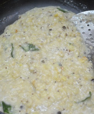 oats pongal-add dal