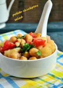 potato chickpeas salad recipe