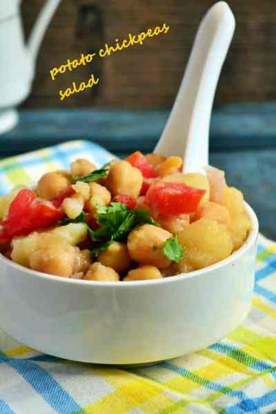Potato chickpeas salad recipe,healthy salad recipes for summer