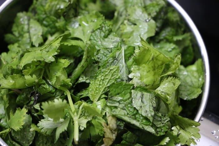 cilantro rice step 1